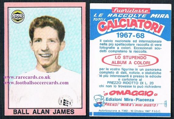 1967 Alan Ball Mira Italian card